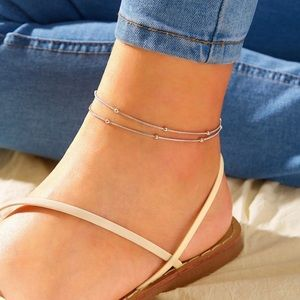 3/$23 Ball Decor Chain Anklet 1pc